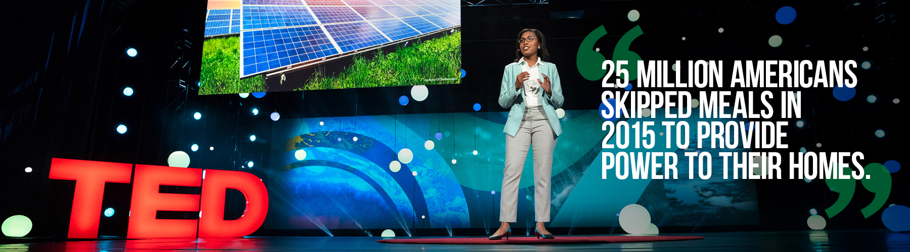 DeAndrea Salvador speaks during Fellows Session at TED2018 - The Age of Amazement, April 10 - 14, 2018, Vancouver, BC, Canada. Photo: Ryan Lash / TED