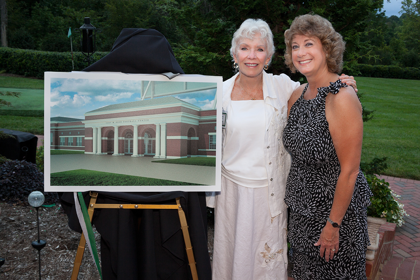 Ardent supporter and Rose mentor Dale Halton made a gift for naming the rights to the football field house, now the Judy W. Rose Football Center.