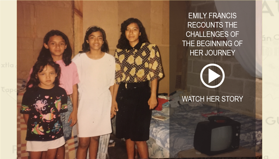Emily Francis recounts the challenges of the beginning of her journey. Watch her story.