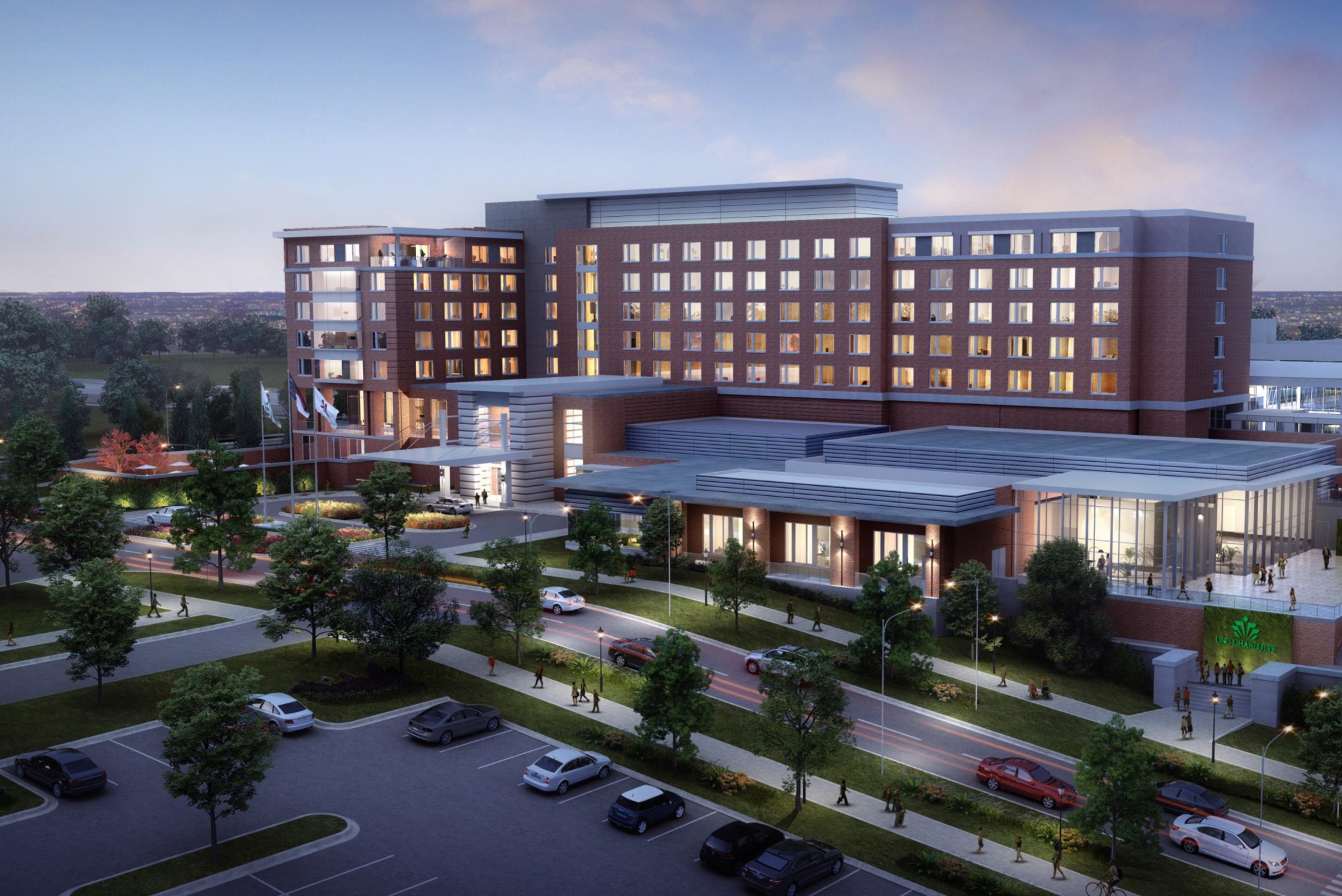 Computer rendering of a new hotel.