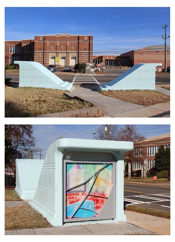 """Prospect of a City,"" a public art work coordinated by the ASC and created by artist David Wilson."