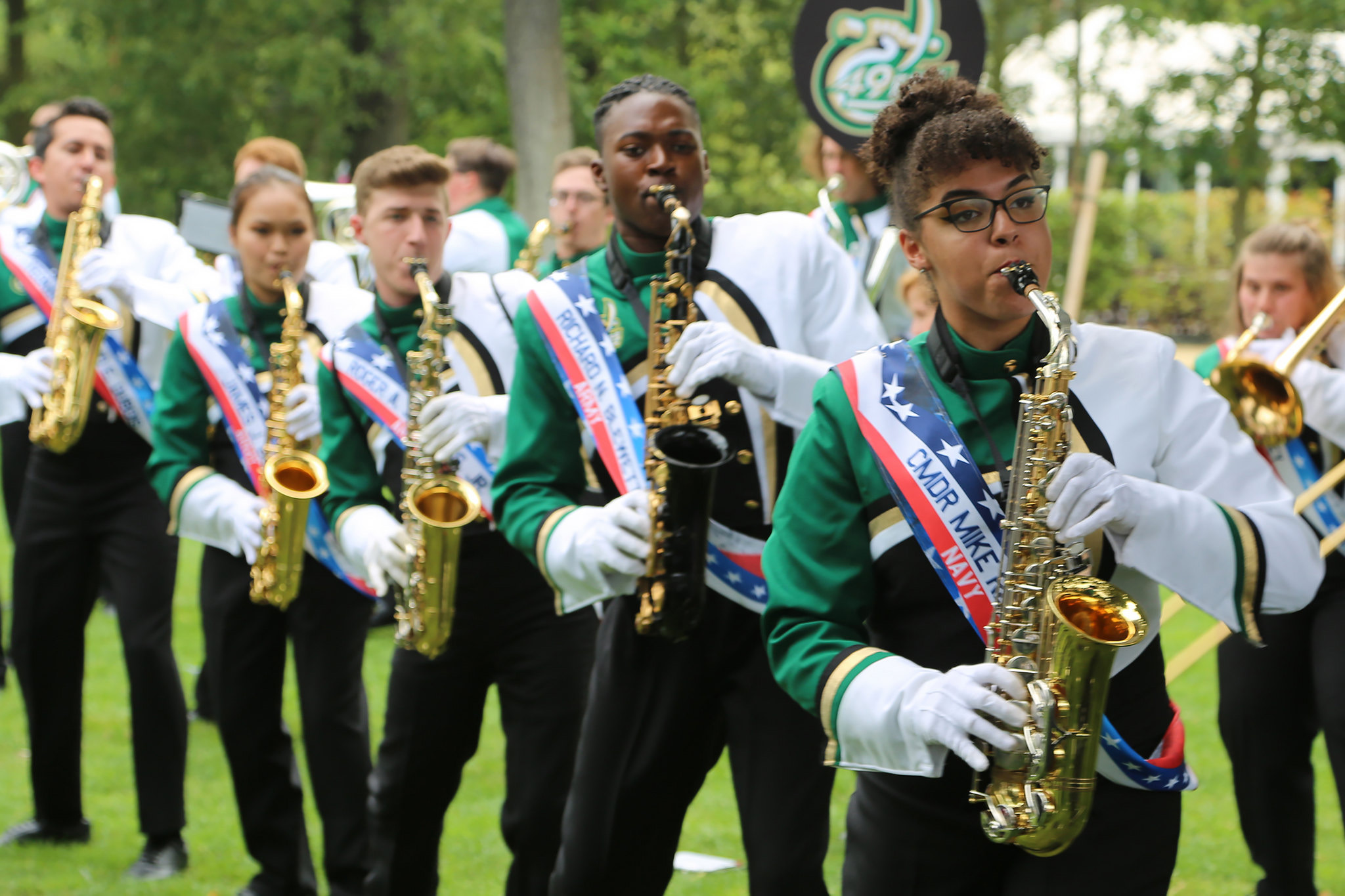 Saxophones in the Jardin d'Acclimatation