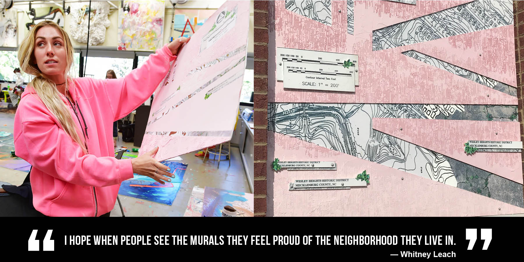 """I hope when people see the murals they feel proud of the neighborhood they live in."" Whitney Leach"