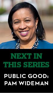 Next in the series - Public Good: Pam Wideman